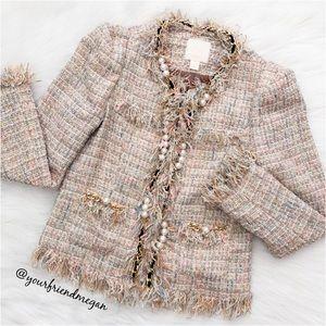 McGinn Elizabeth Metallic Boucle Jacket
